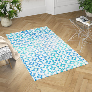 Sea Waves Accent Rug - Blue Dobby Rug | Brandless Artist