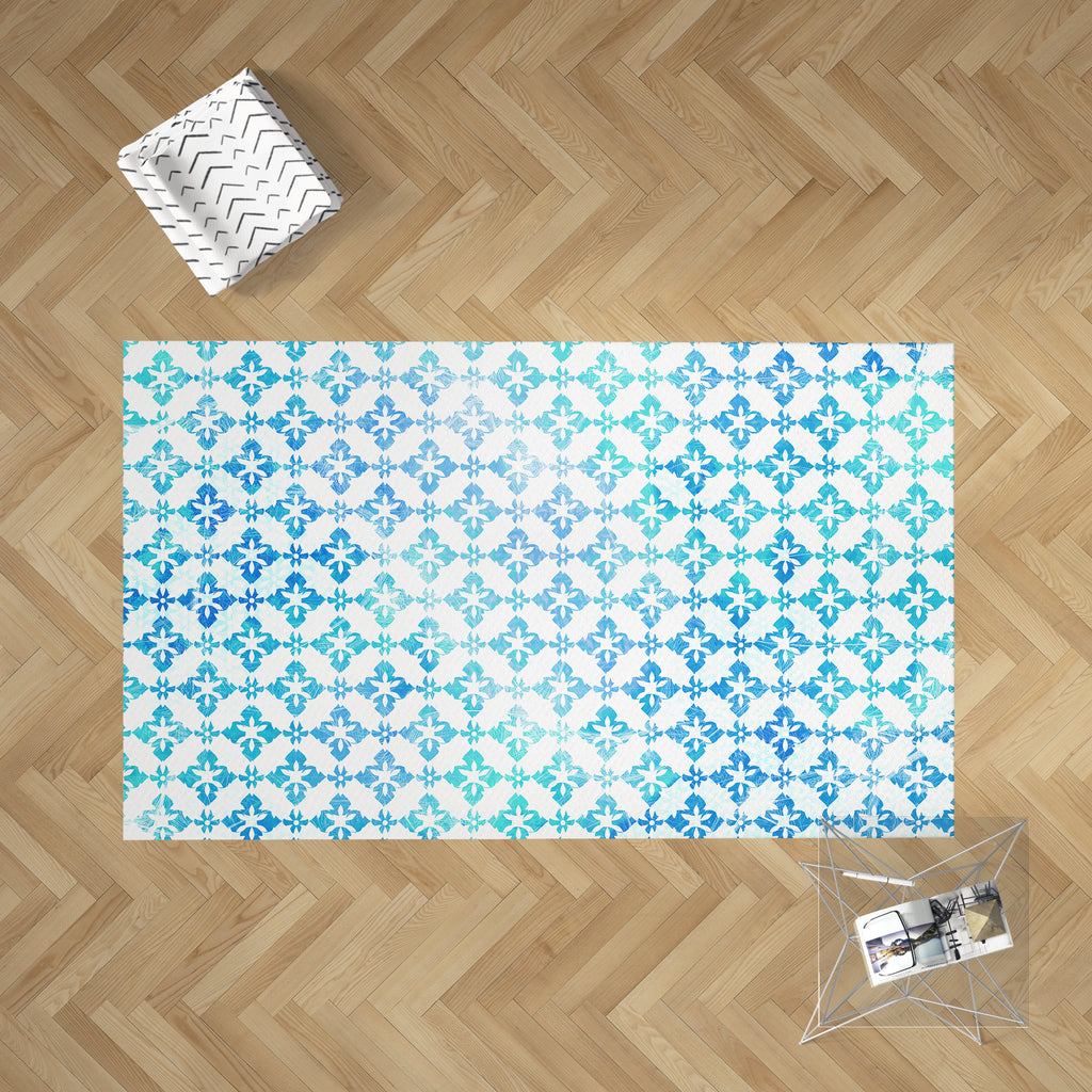 Sea Blue Dobby Rug | Brandless Artist Home Decor