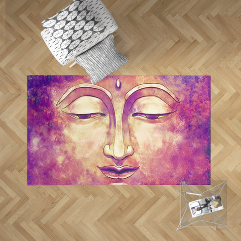 Pink Buddha Dobby Rug | Brandless Artist Home Decor