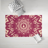 Royal Burgundy Buddha Dobby Rug | Brandless Artist Home Decor