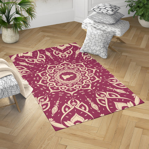 Burgundy Spiritual Buddha Rug | Brandless Artist Home Decor