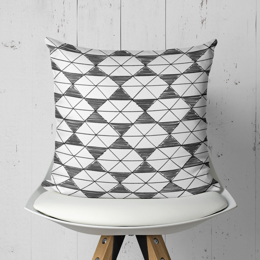 Black and White Pillow - Tribal Home Decor | Brandless Artist