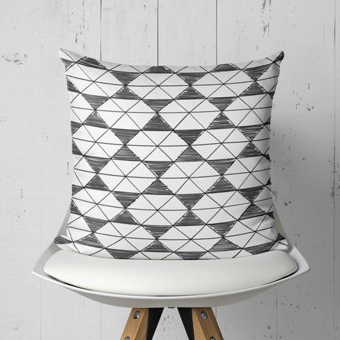 Black and White Pillow - Pattern Throw Pillow | Brandless Artist