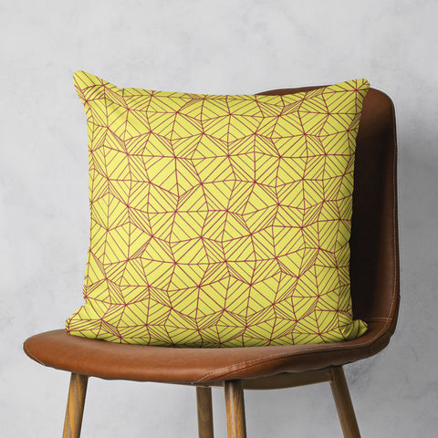 Yellow Pillow - Sunny Yellow Throw Pillow - Geometric Pillow | Brandless Artist