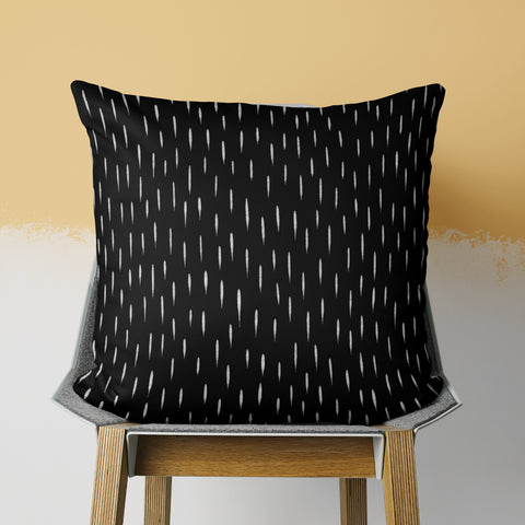 Black Pillow - Black and White Throw Pillow - Modern Pillow | Brandless Artist
