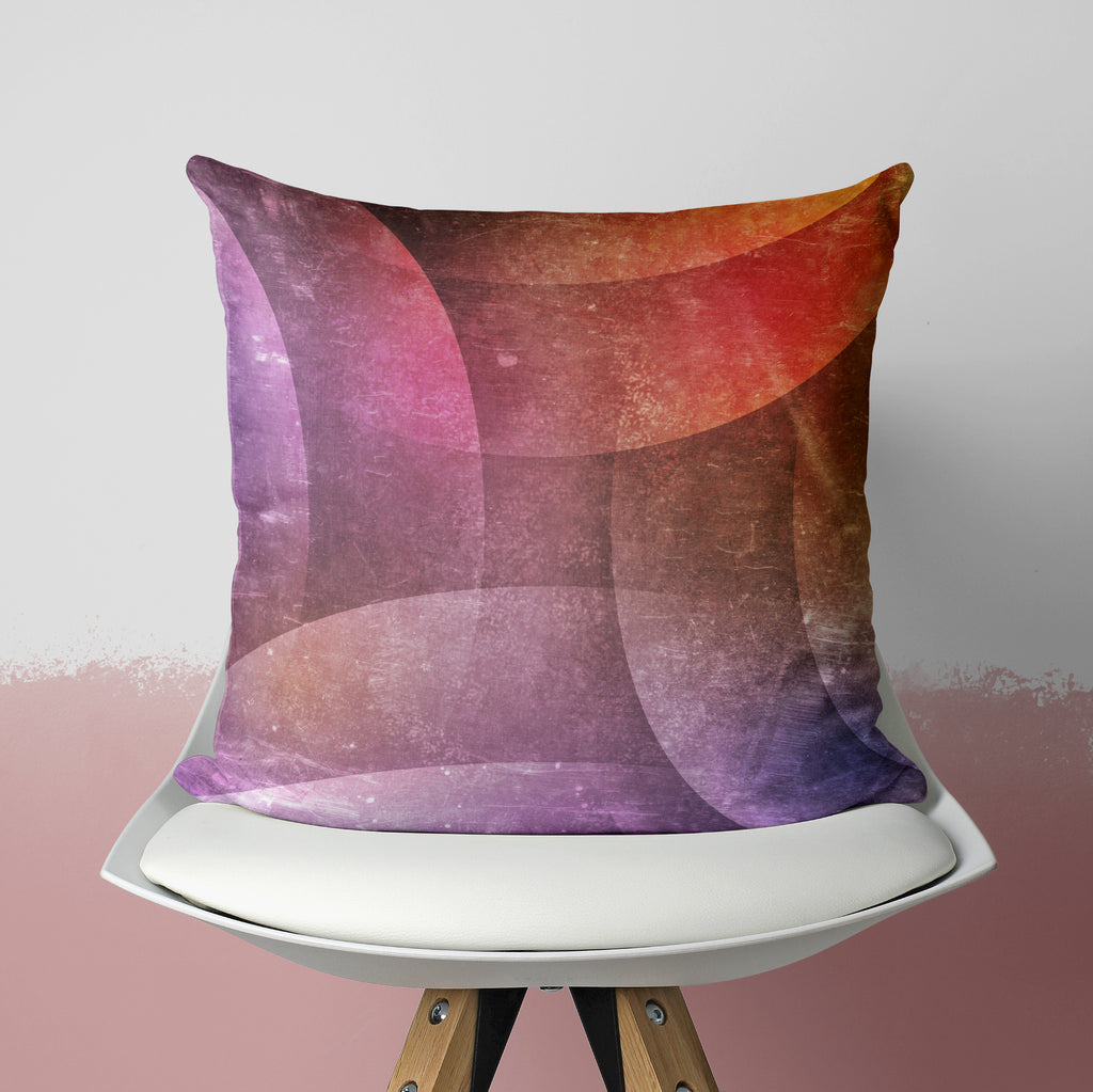 Purple Geometrical Pillow - Grunge Decorative Pillow | Brandless Artist