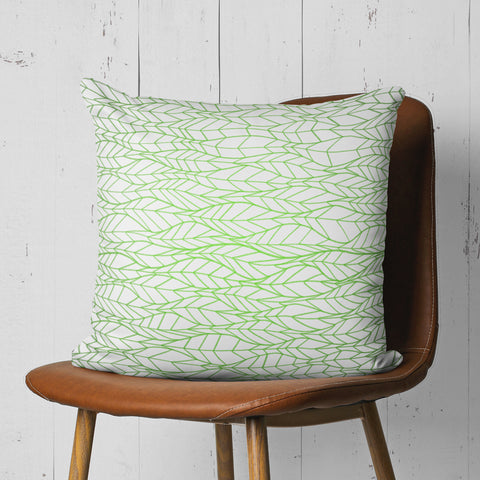 Leaf Pattern Pillow - Minimalist Green Pillow for Couch | Brandless Artist