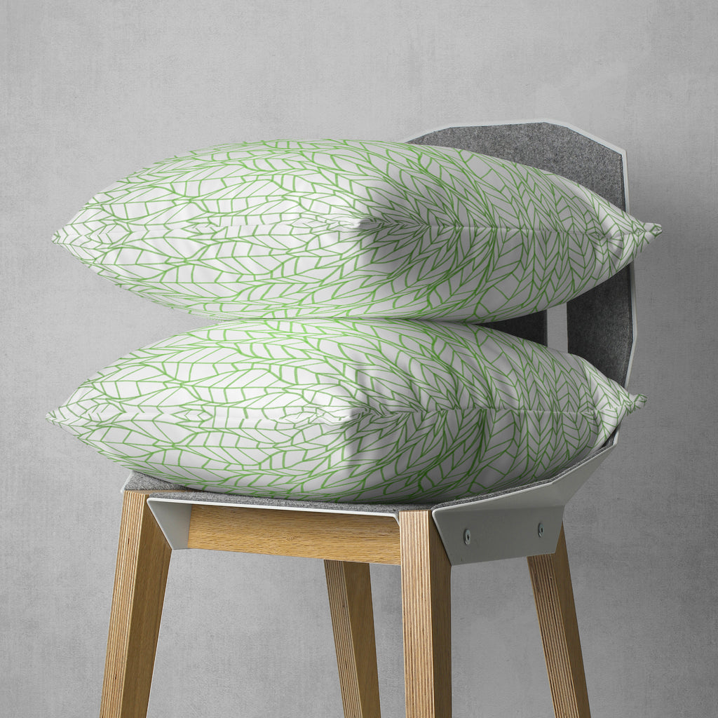 Leaf Couch Pillow Cover - Green Tribal Cushion | Brandless Artist