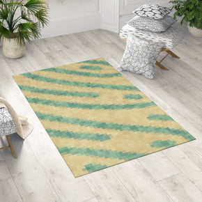 Yellow and Green Rug - Pixel Rug | Brandless Artist Home Decor