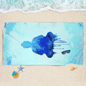 Cobalt Buddha Beach Towel - Blue Beach Towel | Brandless Artist