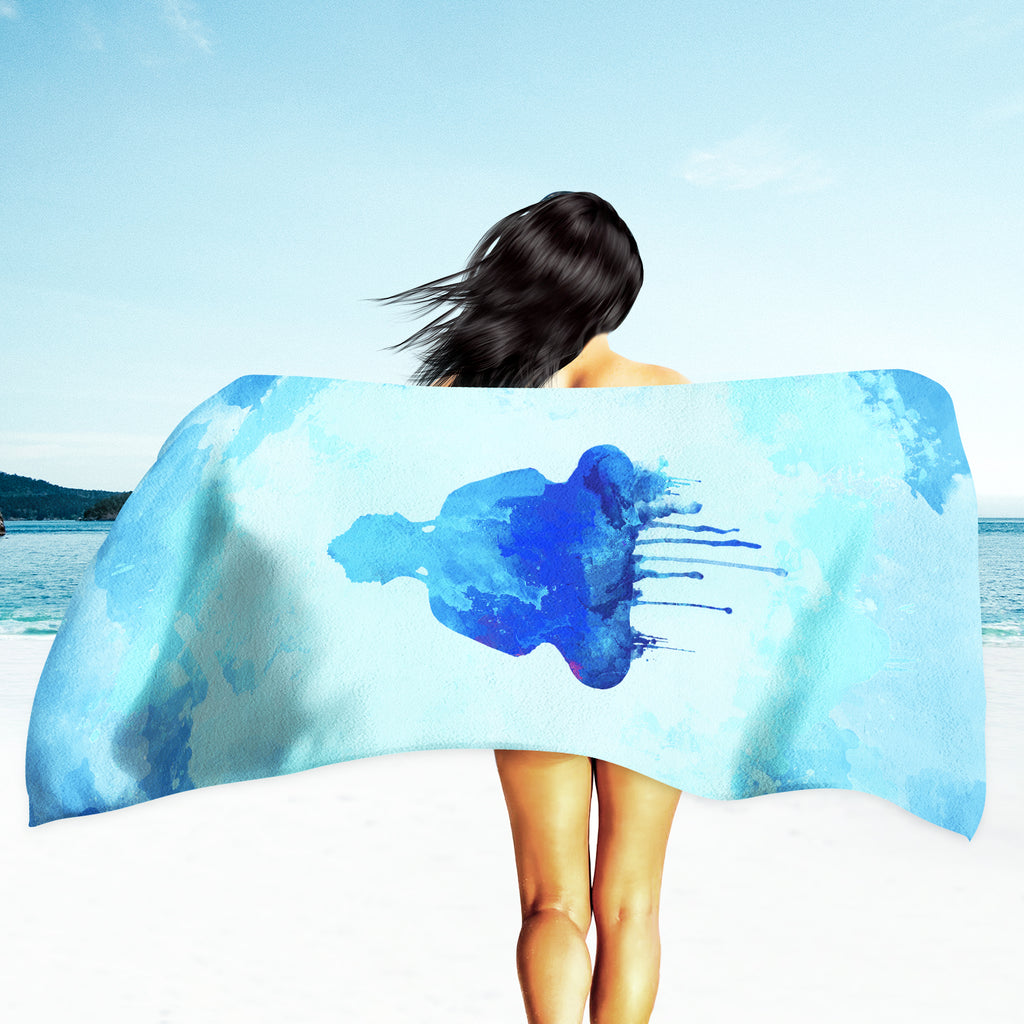 Buddha Beach Towel - Girl with Buddha Towel | Brandless Artist