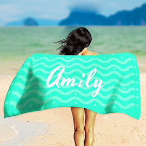 Custom Name Towel - Green Personalized Towel | Brandless Artist