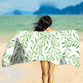 Greenery Beach Towel - Leaf Pattern Towel | Brandless Artist