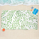 Greenery Beach Towel - Leaves Beach Towel | Brandless Artist