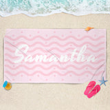 Pink Custom Name Towel - Personalized Beach Towel | Brandless Artist