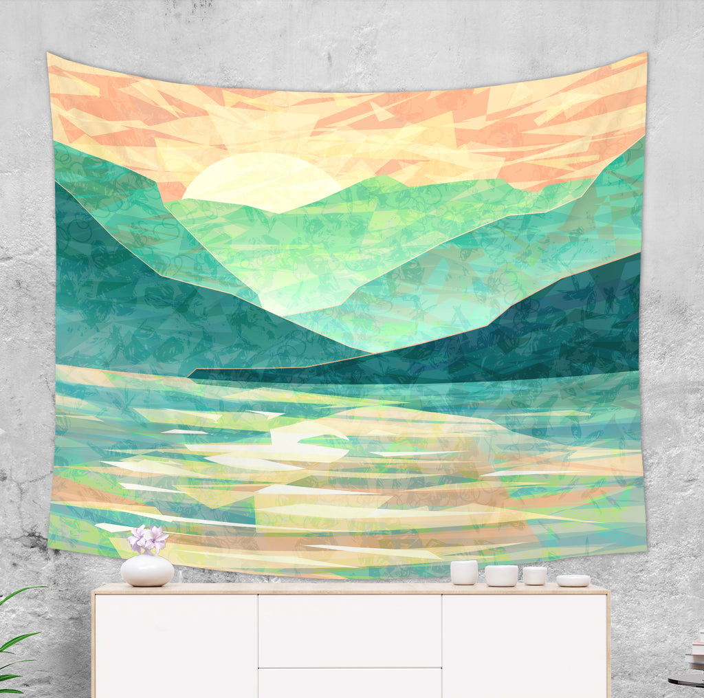 Mountain Tapestry - Japanese Mountain Wall Hanging | Brandless Artist