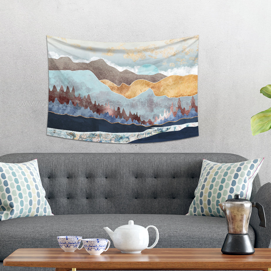 Golden Mountains Tapestry Wall Hanging | Brandless Artist