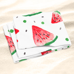 Watermelon Beach Towel - Watercolor Beach Towel | Brandless Artist