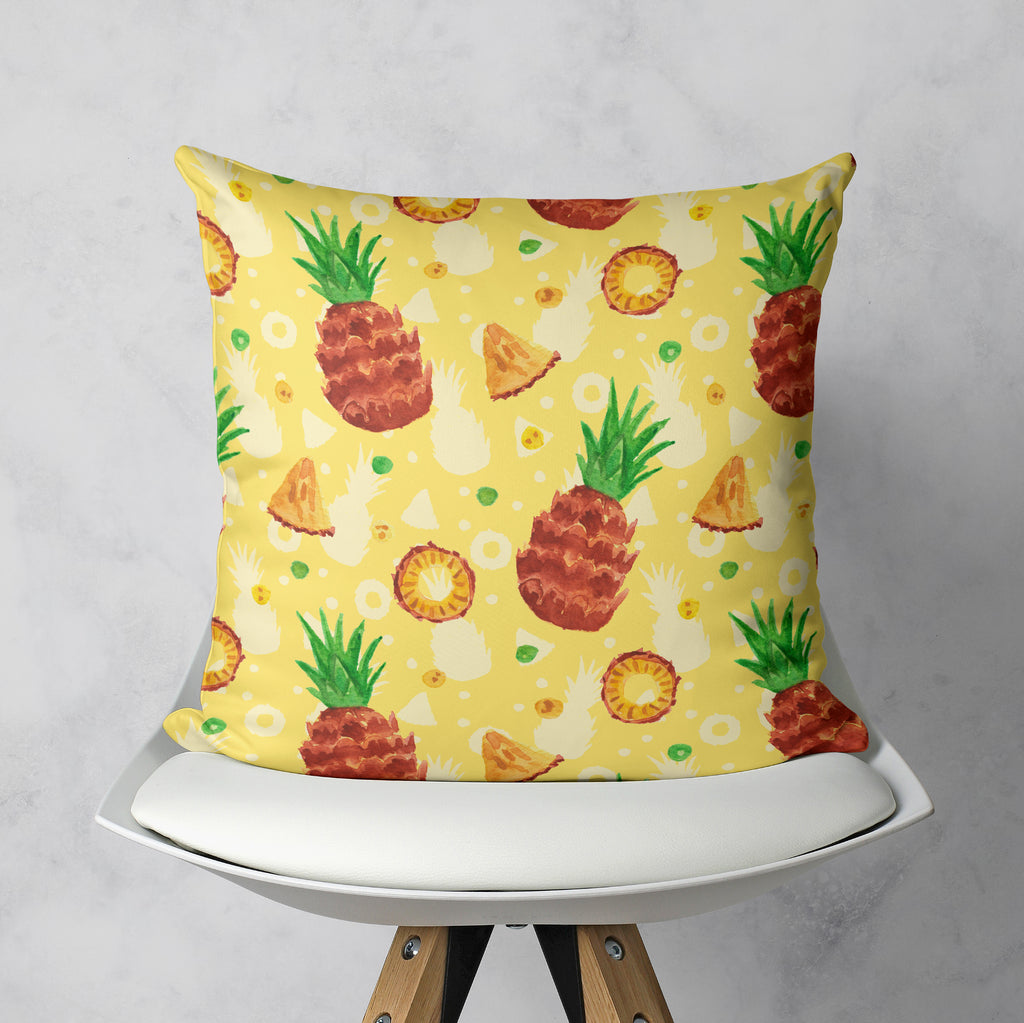 Pineapple Pillow, Yellow Cushion Cover for the Summer | Brandless Artist