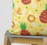 Watercolor Pineapple Pillow, Yellow Fruit Cushion | Brandless Artist