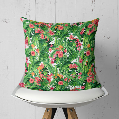 Tropical Pillow - Tropical Leaves Pillow | Brandless Artist