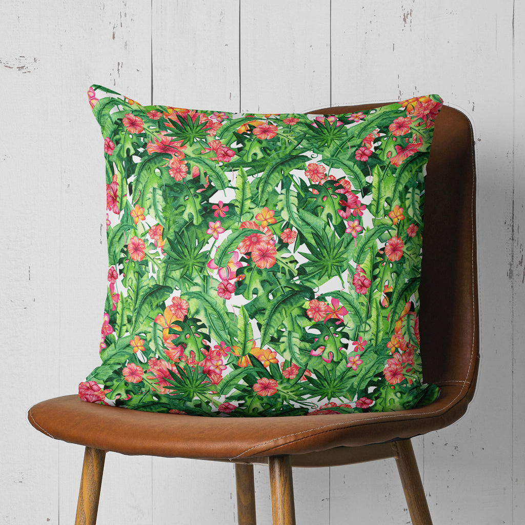 Tropical Pillow - Summer Decorative Pillow with Palm Leaves | Brandless Artist