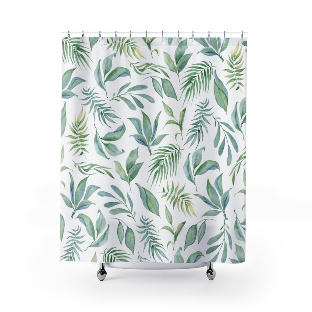 Botanical Shower Curtain - Greenery Bathroom Decor