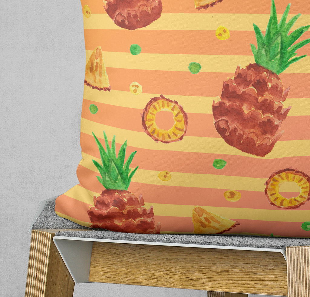 Pineapple Pillow - Orange Watercolor Couch Pillow | Brandless Artist