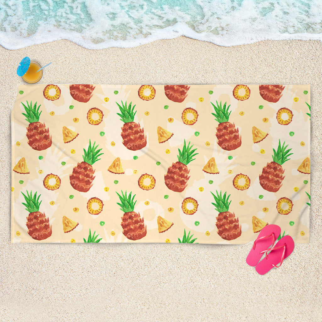 Summer Fruit Beach Towel - Pineapple Beach Towel | Brandless Artist