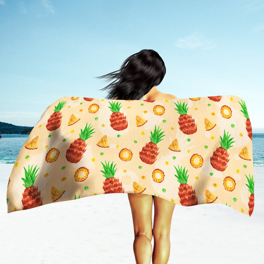 Pineapple Beach Towel - Orange Beach Towel | Brandless Artist
