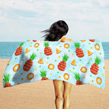 Blue Tropical Beach Towel - Pineapple Beach Towel | Brandless Artist