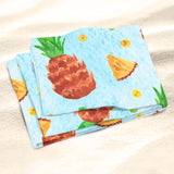Blue Pineapple Beach Towel - Tropical Beach Towel | Brandless Artist