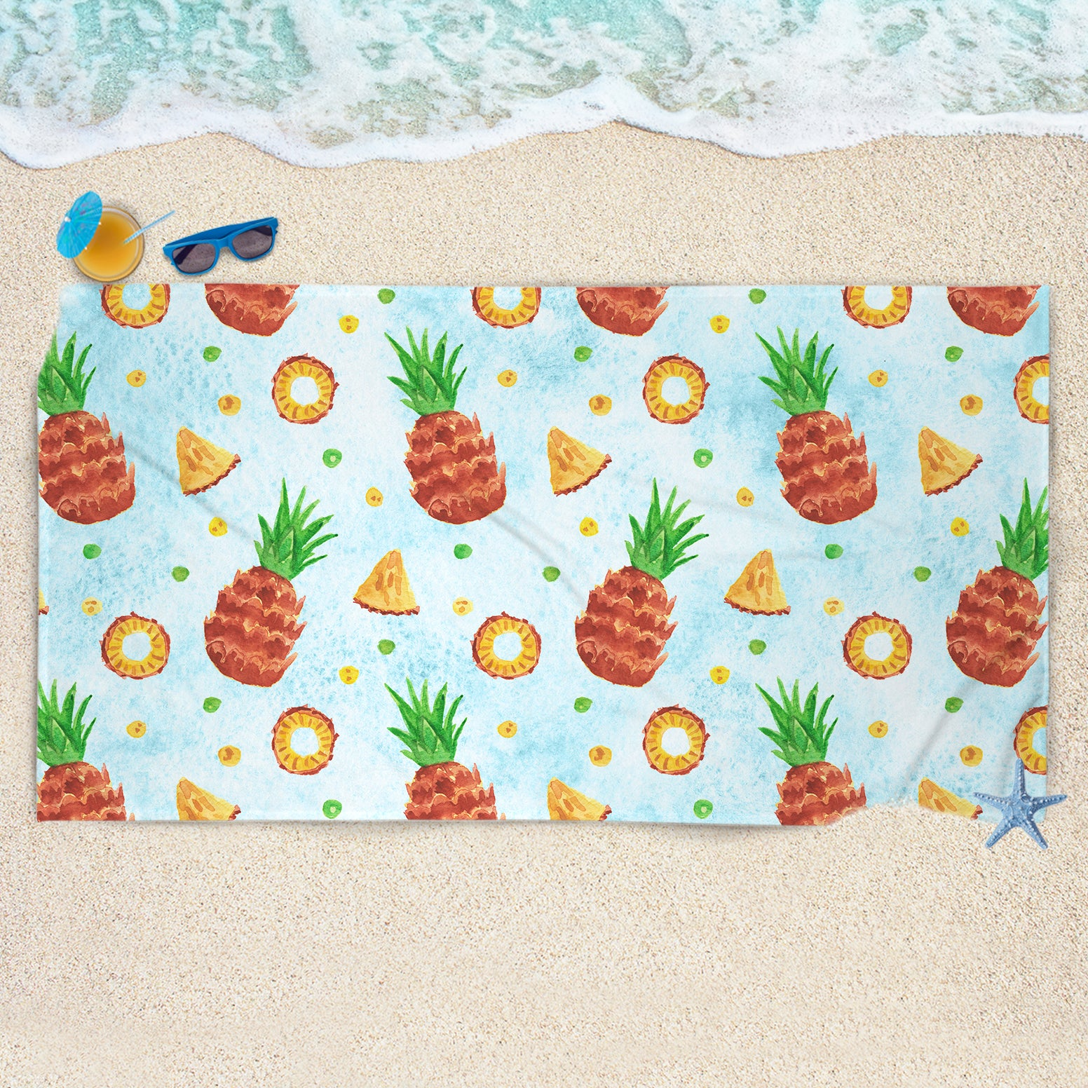Pineapple Beach Towel - Huge Beach Towel | Brandless Artist