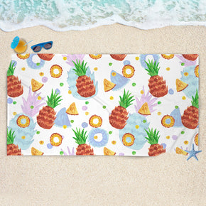 Summer Pattern Beach Towel - Happy Pineapple Beach Towel | Brandless Artist