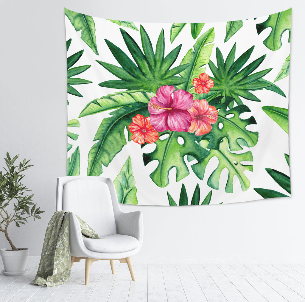 Tropical Tapestry - Tropical Leaf Tapestry | Brandless Artist