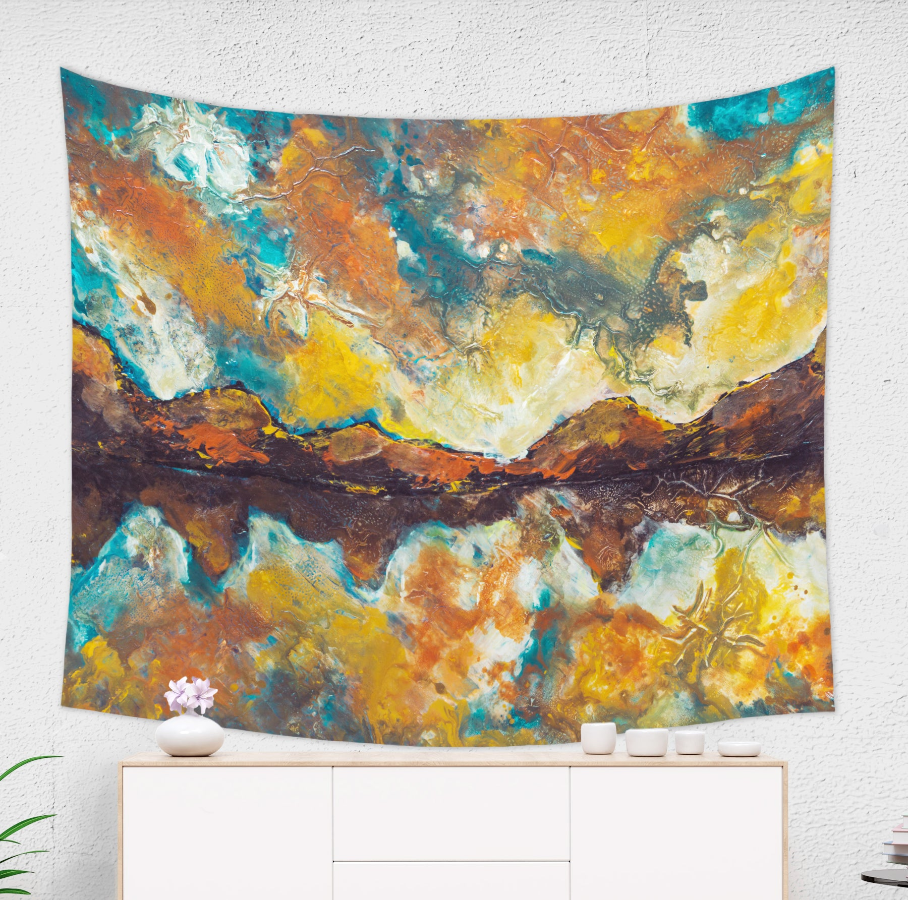 Morning Mountain Tapestry - Brandless Artist