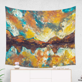 Morning Mountain Tapestry Scenic Home Decor Designed by Artist | Brandless Artist