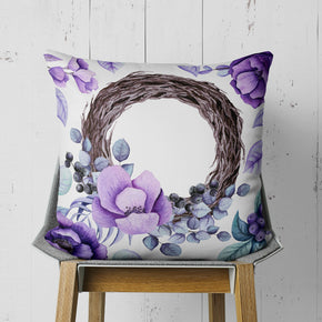 Flower Wreath Throw Pillow - Accent Pillow for Couch | Brandless Artist