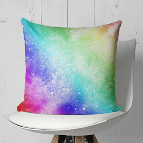Grunge Decorative Pillow - Rainbow Cushion for Girls | Brandless Artist