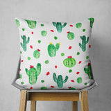 Succulent Pillow Bohemian Home Decor, Green and White  | Brandless Artist