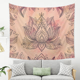 Lotus Flower Wall Hanging for Bohemian Rooms with Floral Design | Brandless Artist
