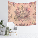 Flower Mandala Tapestry Large Wall Hanging for Meditation Rooms | Brandless Artist