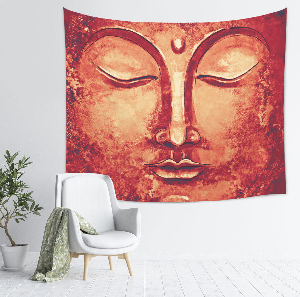 Red Buddha Wall Hanging - Rustic Home Decor | Brandless Artist