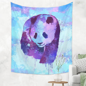 Panda Tapestry - Blue Watercolor Panda Tapestry | Brandless Artist