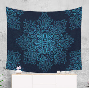Dark Blue Mandala Tapestry - Boho Decoration | Brandless Artist
