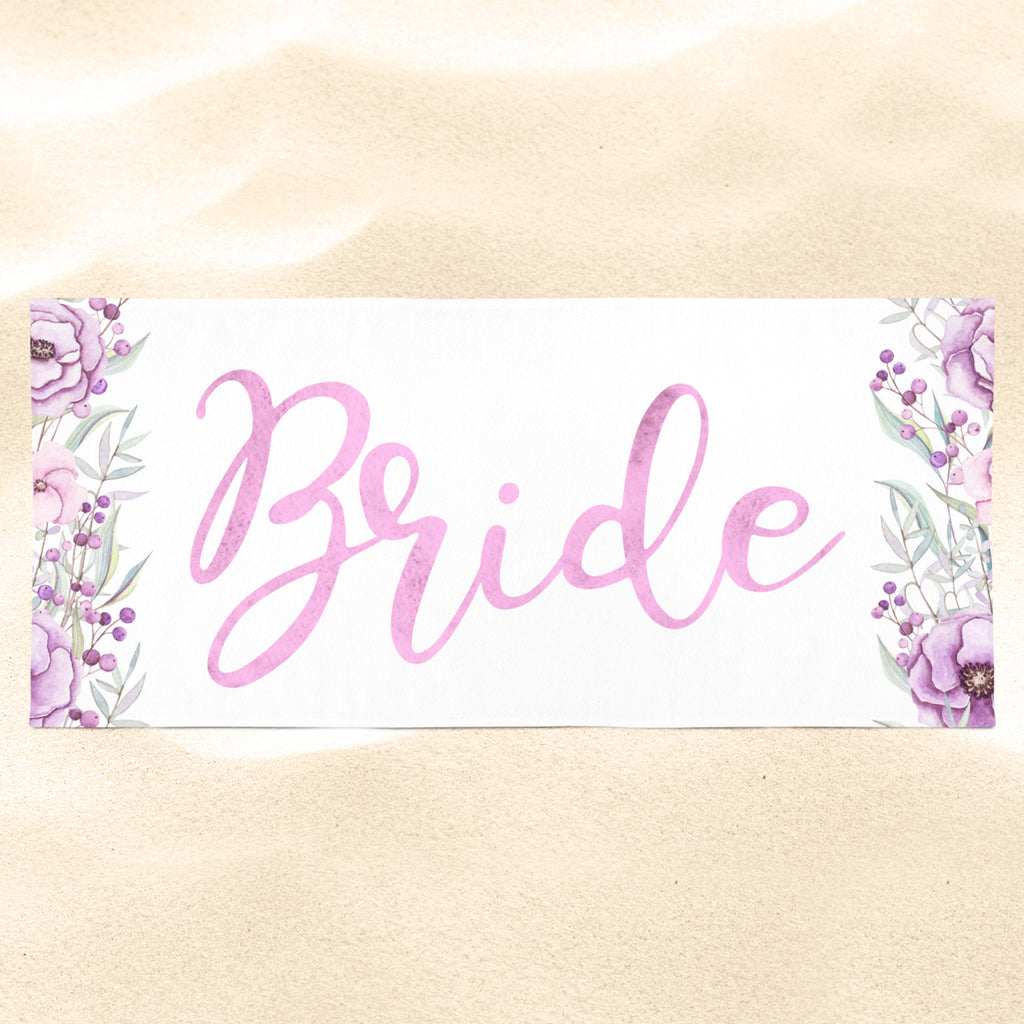 Bridesmaid Beach Towel - Custom Beach Towel | Brandless Artist