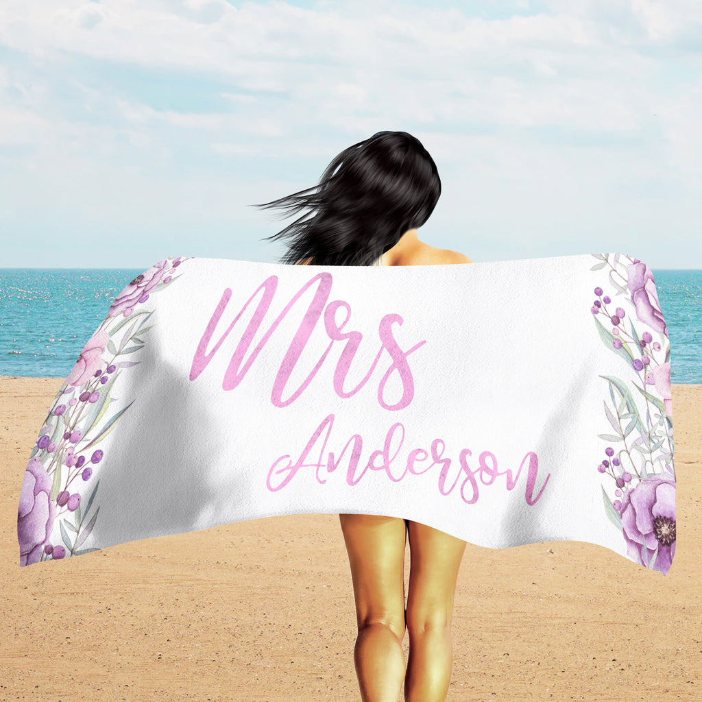 Custom Beach Towel - Custom Text Towel | Brandless Artist