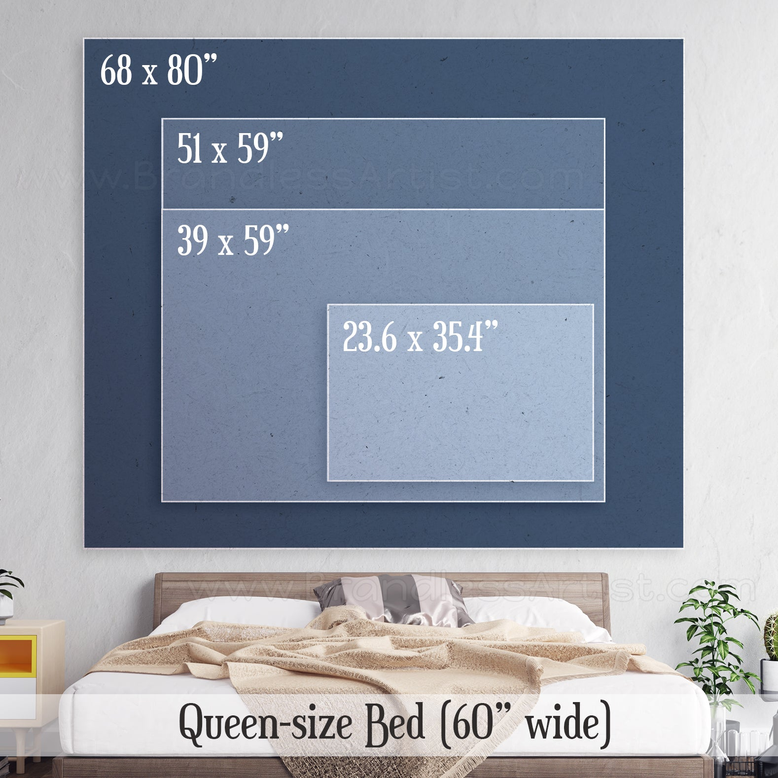 Scenic Wall Hanging Cheap Home Decor Size Chart | Brandless Artist