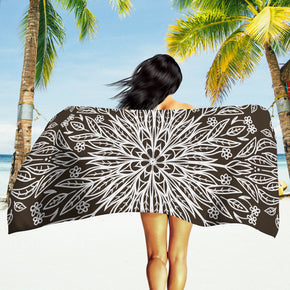 Dark Beach Towel - Brown Mandala Towel | Brandless Artist