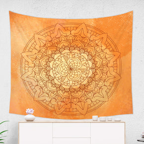Orange Mandala Wall Tapestry - Brandless Artist